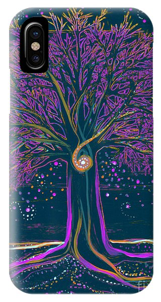 Mystic Spiral Tree 1 Purple IPhone Case