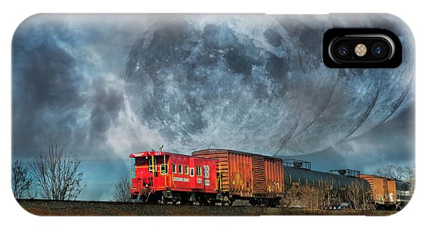 Red Caboose iPhone Case - Mystic Tracking by Betsy Knapp