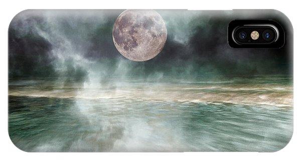 Mystical Beach Moon IPhone Case