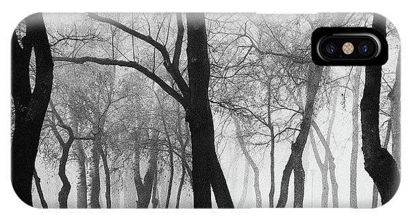 Park Bench iPhone Case - Mystique by Marchevca Bogdan