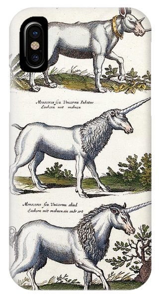 Unicorn iPhone Case - Mythical Horned Beasts by Paul D Stewart