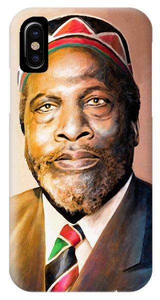 George Bush iPhone Case - Mzee Jomo Kenyatta by Anthony Mwangi