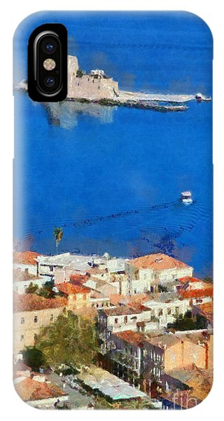 Nafplio And Bourtzi Fortress IPhone Case