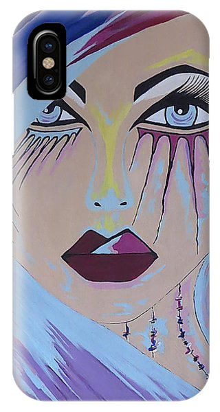 Naira - Contemporary Woman Painting IPhone Case