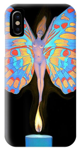 Naked Butterfly Lady Transformation IPhone Case