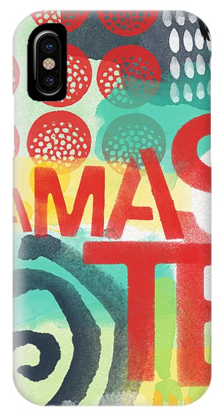 Namaste- Contemporary Abstract Art IPhone Case