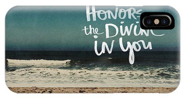 Motivational iPhone Case - Namaste Waves  by Linda Woods
