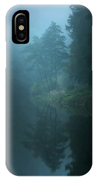 Fog iPhone Case - Nameless Lake by Milos Lach