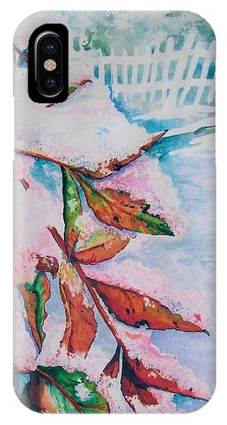 Nandina In Snow IPhone Case