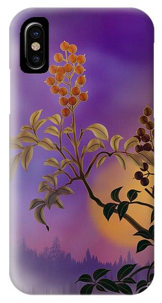 Shrub iPhone Case - Nandina The Beautiful by Peter Awax