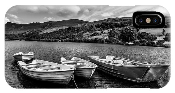 IPhone Case featuring the photograph Nantlle Uchaf Boats by Adrian Evans