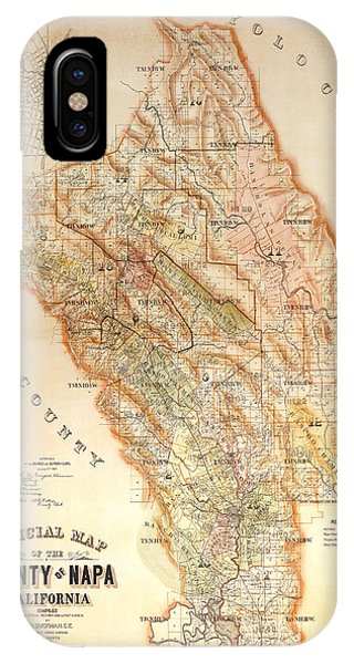 Napa Valley Map 1895 IPhone Case