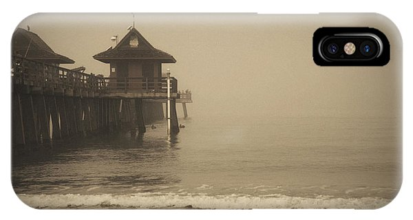 Naples Pier In The Fog IPhone Case