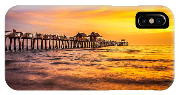 Naples Pier Sunset IPhone Case