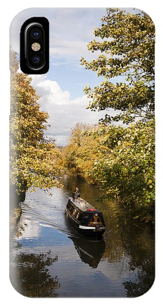 Narrowboat On The Grand Union IPhone Case