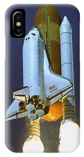 Nasa Atlantis Launch 2 IPhone Case