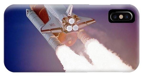 Nasa Atlantis Launch 3 IPhone Case