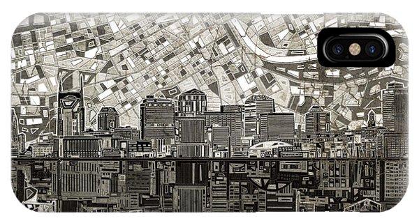 Nashville Skyline Abstract 5 IPhone Case