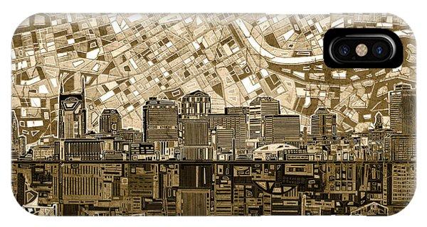 Nashville Skyline Abstract 6 IPhone Case