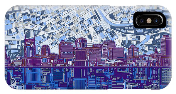 Nashville Skyline iPhone Case - Nashville Skyline Abstract 8 by Bekim Art