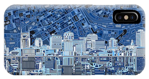 Nashville Skyline iPhone Case - Nashville Skyline Abstract by Bekim Art