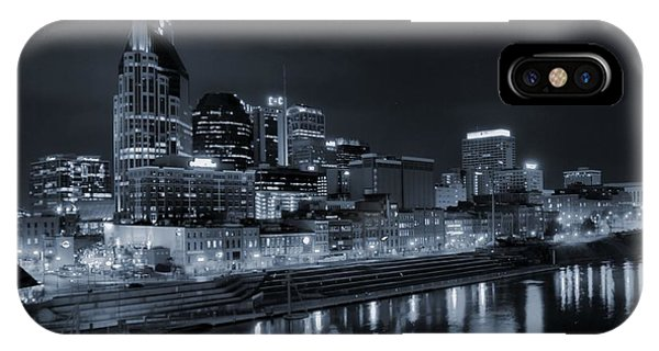 Nashville Skyline iPhone Case - Nashville Skyline At Night by Dan Sproul