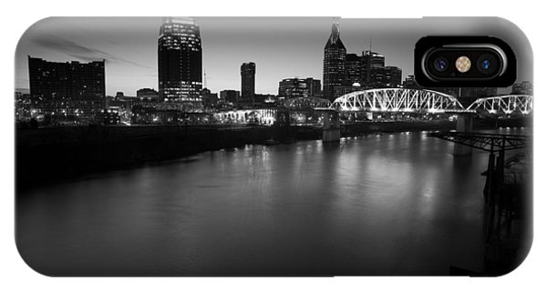 Nashville Skyline Black And White IPhone Case