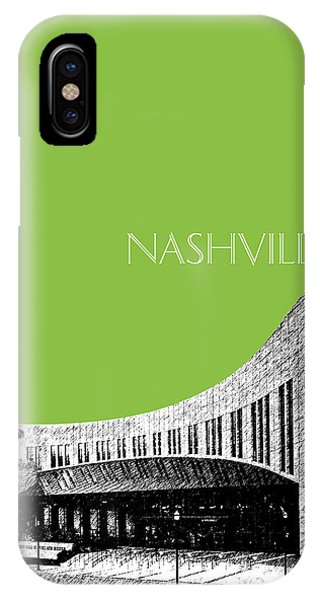 Nashville Skyline iPhone Case - Nashville Skyline Country Music Hall Of Fame - Olive by DB Artist