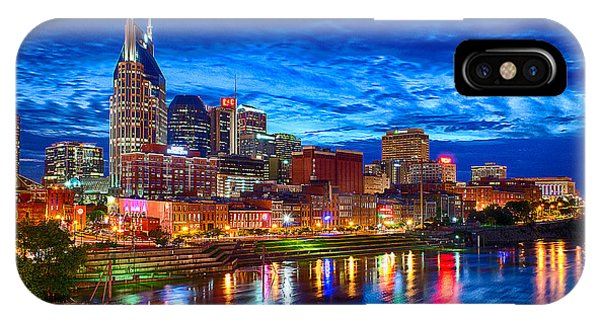 Night iPhone Case - Nashville Skyline by Dan Holland