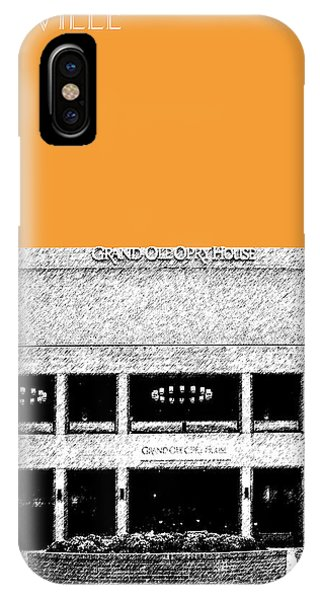 Nashville Skyline iPhone Case - Nashville Skyline Grand Ole Opry - Orange by DB Artist
