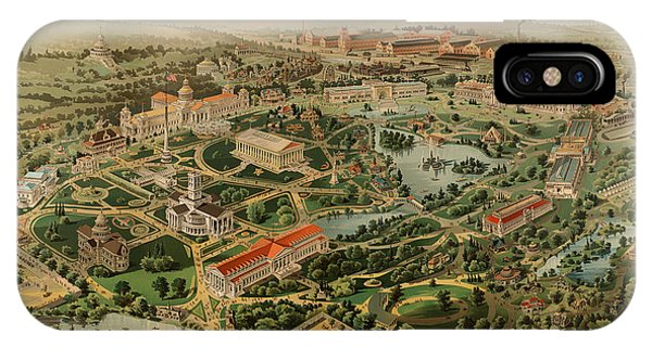 Capitol Building iPhone Case - Nashville Tennessee Centennial Exposition Map 1897 by Mountain Dreams