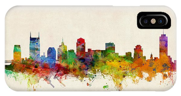United States iPhone Case - Nashville Tennessee Skyline by Michael Tompsett