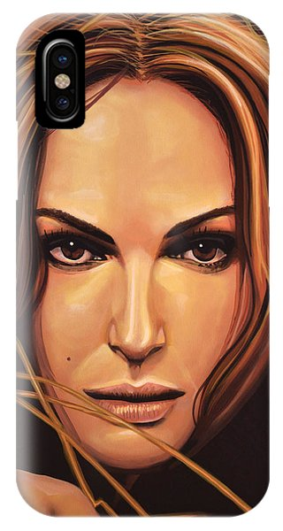 Swan iPhone X Case - Natalie Portman by Paul Meijering