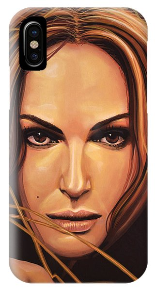 Swan iPhone Case - Natalie Portman by Paul Meijering