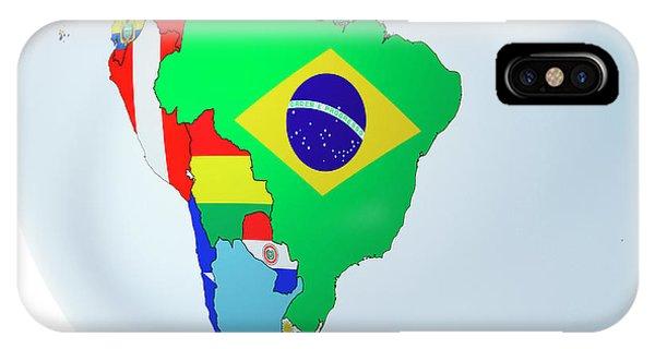 National Flags On Globe Phone Case by Andrzej Wojcicki/science Photo Library