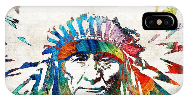 Bull iPhone Case - Native American Art - Chief - By Sharon Cummings by Sharon Cummings