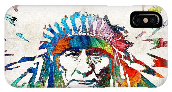 American Indian iPhone Case - Native American Art - Chief - By Sharon Cummings by Sharon Cummings