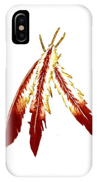 Feathers iPhone Case - Native American Feathers  by Michael Vigliotti