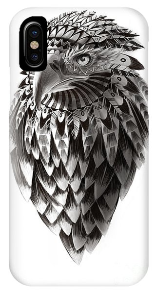 Hawk iPhone Case - Native American Shaman Eagle by Sassan Filsoof