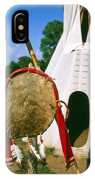 Native American Shield And Spear IPhone Case