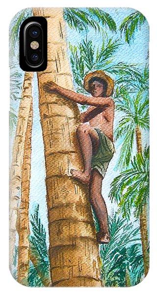 Native Climbing Palm Tree IPhone Case