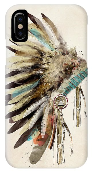 Native iPhone Case - Native Headdress by Bri Buckley