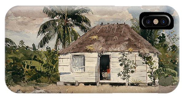 iPhone Case - Native Huts Nassau by Winslow Homer