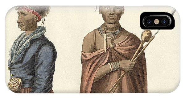 Kora iPhone Case - Natives Of South Africa by Splendid Art Prints