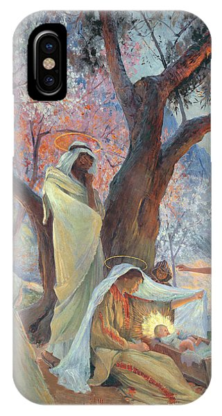 Life Of Christ iPhone Case - Nativity by Frederic Montenard
