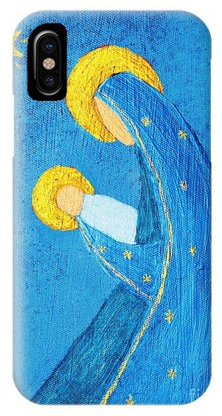 Nativity In Blue IPhone Case