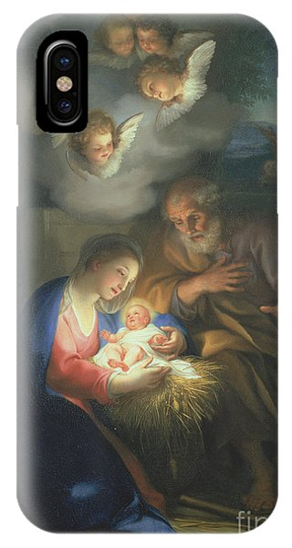 Life Of Christ iPhone Case - Nativity Scene by Anton Raphael Mengs
