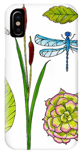Cactus iPhone Case - Natural History By The Pond by Blenda Studio