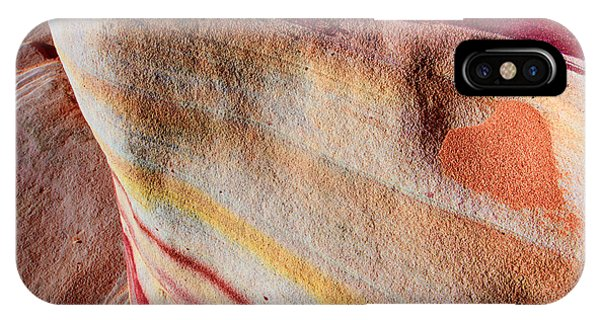 Valley Of Fire iPhone Case - Nature's Valentine by Chad Dutson