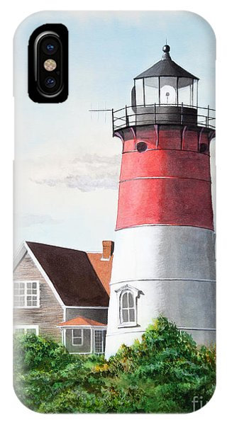 Nauset Beach Memories Watercolor Painting IPhone Case